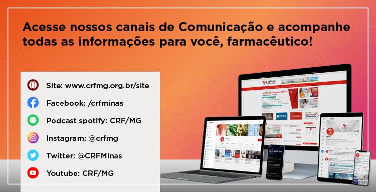 Canais de comunicação doo CRF/MG